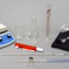 Titration Set 50 mL Glass Stopcock Buret with Hot Plate Stirrer